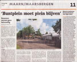 Nieuwsblad De Kaap Expositie Kunst naar Eigen Wens bij Galerie Vier Hoog Achter Zeist mei 2015