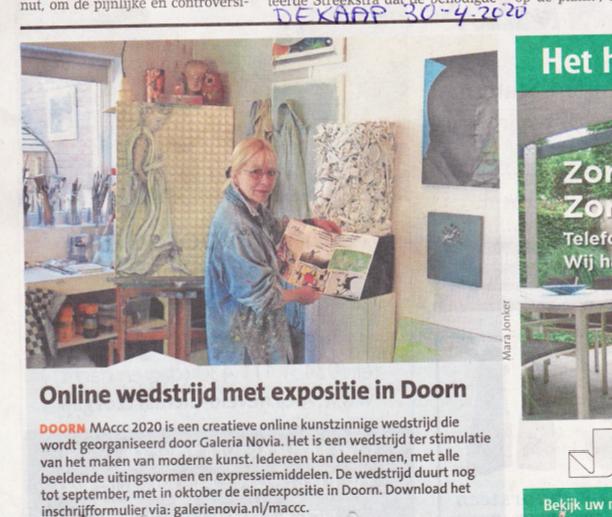 Nieuwsblad de Kaap ank ter kuile MAccc